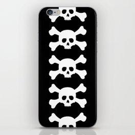 Simple White Crossbones Skull iPhone Skin
