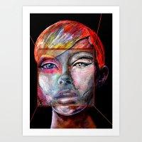 mirror Art Prints featuring mirror by Irmak Akcadogan