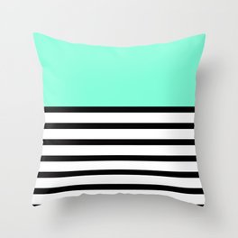Tiffany Black and White Stripes Pattern Throw Pillow