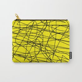 Yellow with black scribbling lines, less is more Carry-All Pouch