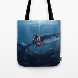 Shark in a Shirt Tote Bag