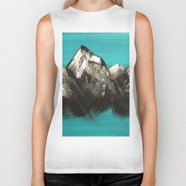Turquoise Mountains by Noelle's Art Loft Biker Tank