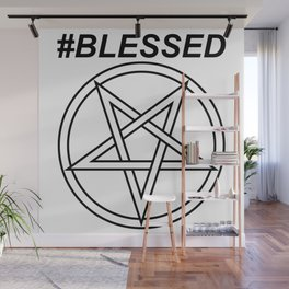 #BLESSED INVERTED INVERSE Wall Mural
