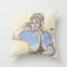 OC: Jean x Paris Throw Pillow
