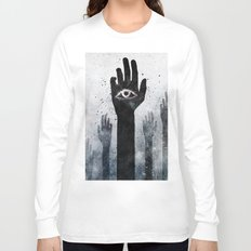 Hands & Eyes #Abstract Long Sleeve T-shirt