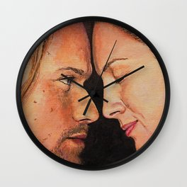 Mo nighean donn (Outlander) Original work of art Wall Clock