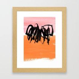 strokes on pink & orange Framed Art Print