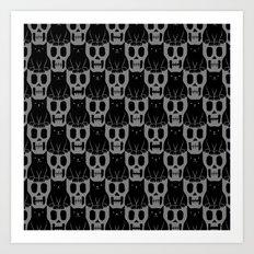 Skulls & Cats Dark Art Print
