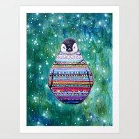 penguin Art Prints featuring penguin by beart24
