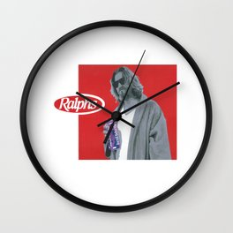 69 cents, in spray paint on stretched canvas. Wall Clock