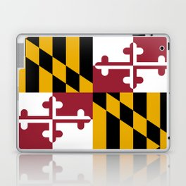 Maryland State Flag, Hi Def image Laptop & iPad Skin