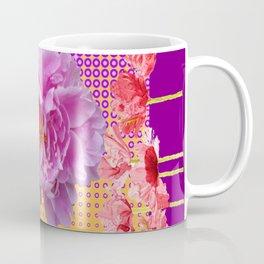PINK PEONY SPRING RED FLOWER PURPLE GARDEN Coffee Mug