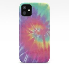 Faded Spiral Tie Dye iPhone Case