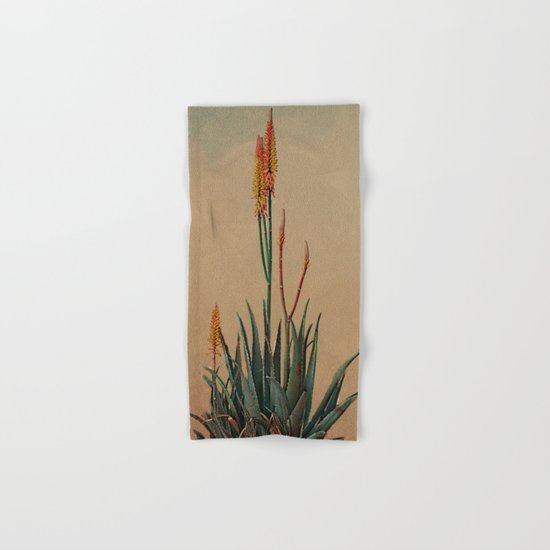 Blooming succulent. Hand & Bath Towel