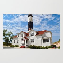 """Big Sable Point Lighthouse"" #2 Rug"
