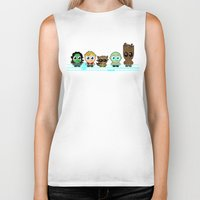 guardians of the galaxy Biker Tanks featuring GUARDIANS OF THE GALAXY by Chris Thompson, ThompsonArts.com
