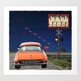 Can-can Stop Sign Art Print