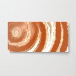 Orange Agate Mineral Texture Metal Print