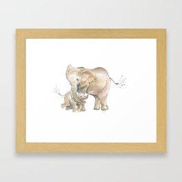 Mother's Love - Elephant Family Framed Art Print
