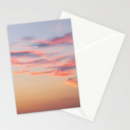 Sunset Burning Clouds Sky Stationery Cards