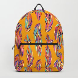 EXOTIC BIRD FEATHERS 02, hot yellow Backpack