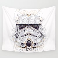 stormtrooper Wall Tapestries featuring stormtrooper by yoaz