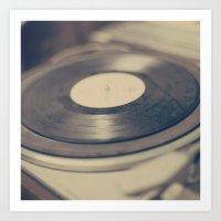 vinyl Art Prints featuring Vinyl  by Caroline Mint