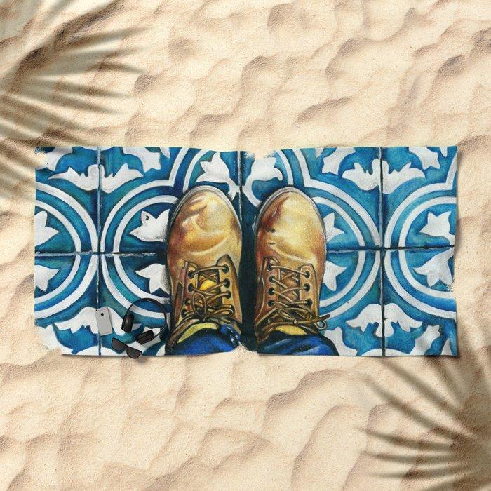 Art Beneath Our Feet - Mexico City Beach Towel