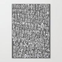 minions Canvas Prints featuring MINIONS by headnhalf