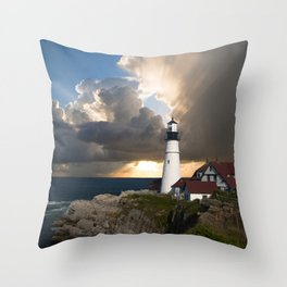 Lighthouse of New England Throw Pillow
