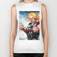 thor Biker Tanks featuring Thor by Boisson