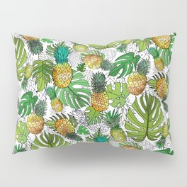Tumbling Pineapples and Tropical Vibes Pillow Sham