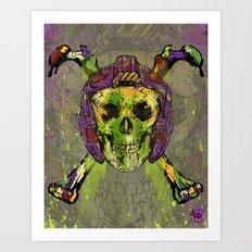 Skull Pilot Art Print