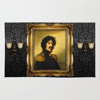 replaceface Area & Throw Rugs featuring Frank Zappa - replaceface by replaceface