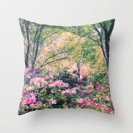 In the garden! Throw Pillow