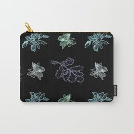 Quercus (black, green) Carry-All Pouch