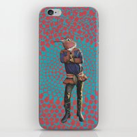 david fleck iPhone & iPod Skins featuring David by Computarded