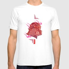 Red Darth Mens Fitted Tee MEDIUM White