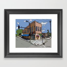 331 Club, Jon Oulman Salon, Modern Cafe - Minneapolis Framed Art Print