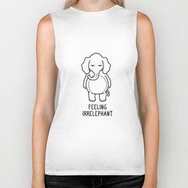 Feeling Irrelephant Shirt Funny Elephant Pun Gift Biker Tank