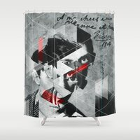 pablo picasso Shower Curtains featuring Pablo 1904 v2 by Marko Köppe
