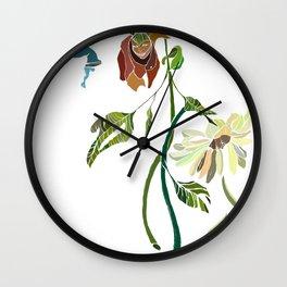 sad flower Wall Clock