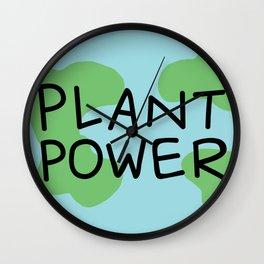 Plant Power Wall Clock