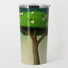 A umbrella  single flowering tree Travel Mug