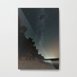 Milky way landscape at the coast of 'Colonia, Uruguay' Metal Print