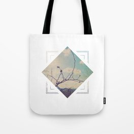 Subtly Flourishing - Square Tote Bag