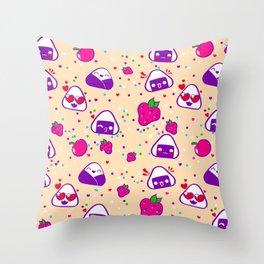 Kawaii Bento Party Throw Pillow