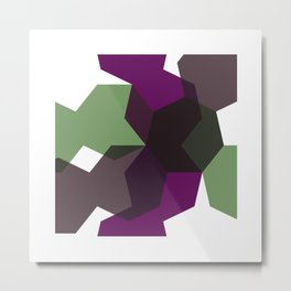 #365 Clash of heptagons – Geometry Daily Metal Print