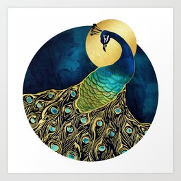 Golden Peacock Kunstdrucke