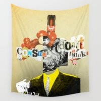 motivation Wall Tapestries featuring Mankind Motivation 5 by Marko Köppe